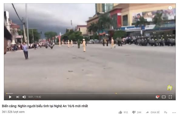 'Nghìn người biểu tình ở Nghệ An 16-6' là clip bịa đặt