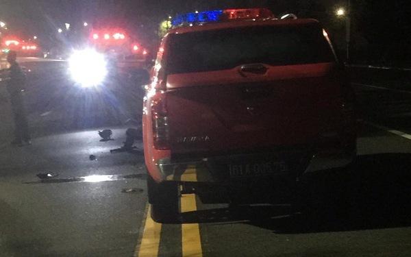 Tông vào xe công an, hai thanh niên bị thương nặng