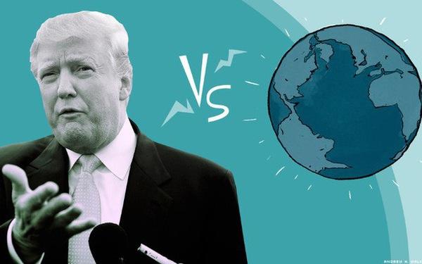 """Gây sự với cả thế giới bằng nguyên tắc """"ép"""", phương châm """"dọa""""; TT Trump sắp phá vỡ trật tự thế giới"""