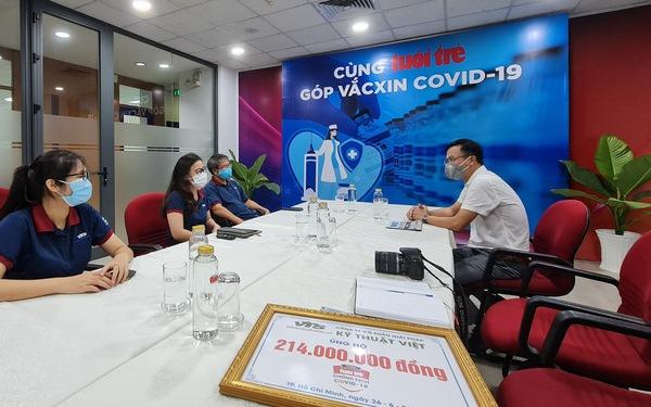 Công ty Giải pháp Kỹ thuật Việt ủng hộ 1 triệu yen Nhật để 'Cùng Tuổi Trẻ chống dịch COVID-19'