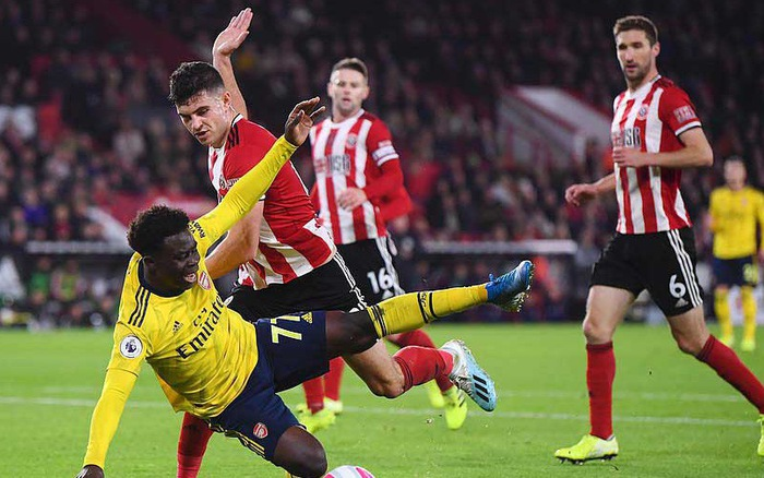 Đá bế tắc, Arsenal bại trận một cách bạc nhược trước Sheffield United